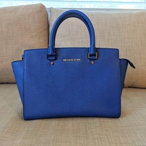 Medium Selma Satchel Michael Kors Blue